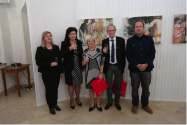 v.l.n.R: Mag. Klara Kourikova (Int. Kontakte Brünn), Bürgermeisterin Jana Bohunovska, Mag. Eva Riebler, Stadtrat Martin Fuhs, Mag. Thomas Lösch