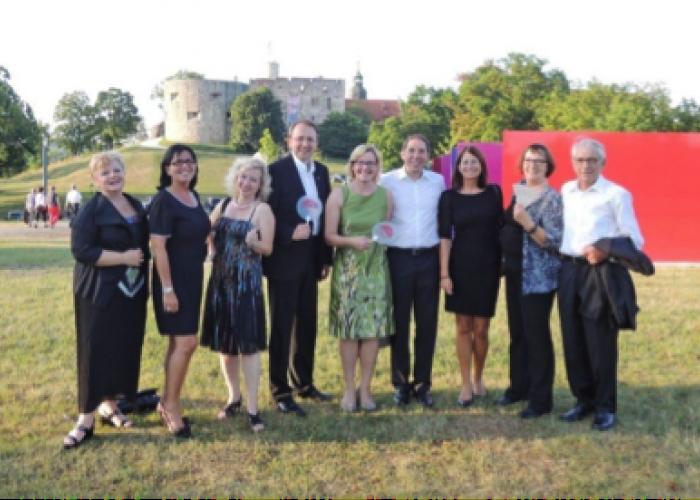 Gelebte Städtepartnerschaft verbindet Beate Steiner, Ulli Wagner, Prischl Eva, Matthias Stadler, Barbara und Bernhard Ilg, Doris Schmidt, Eva und Heiner Enslin.